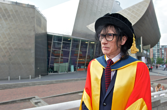 University of Salford graduation ceremony, at the Lowry, where John Cooper Clarke receives honorary doctorate