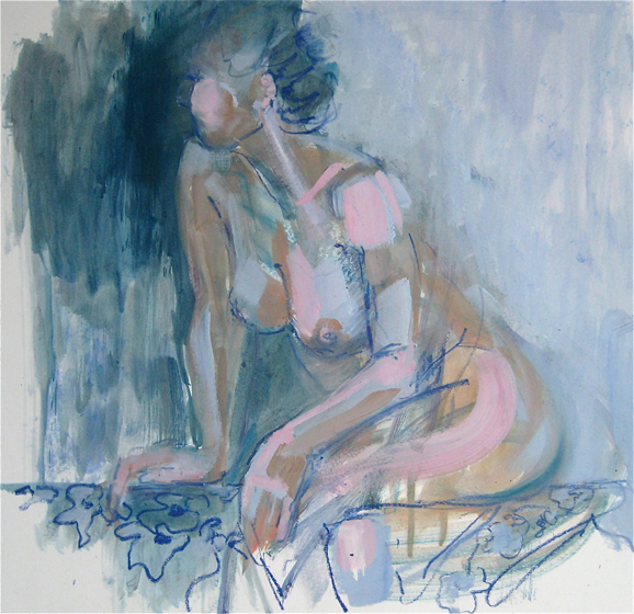 Lindy Dunbar, 'A Moment's Glance', oil on paper