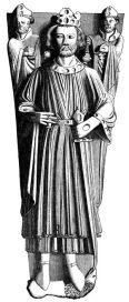 Tumba de John en blanco y negro