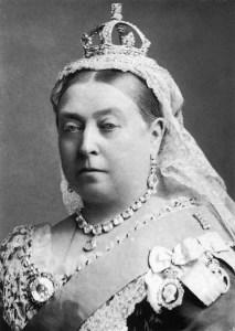 Retrato de la Reina Victoria I en blanco y negro
