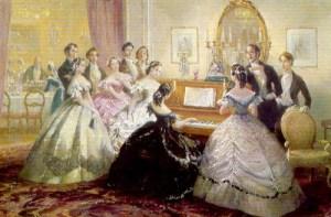 Reunión en la época Victoriana