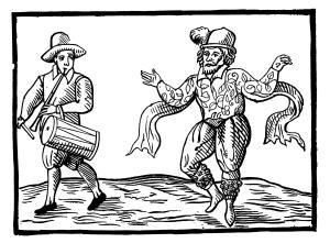 Dibujo de un bailarín de Morris