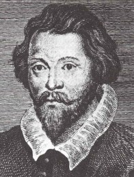 Retrato de William Byrd en blanco y negro