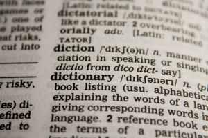 Página de un diccionario