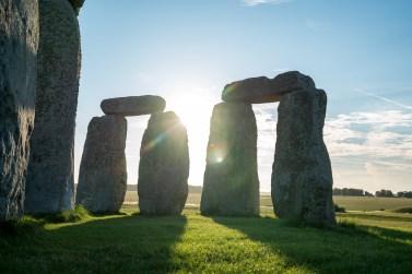 Stonehenge a contraluz