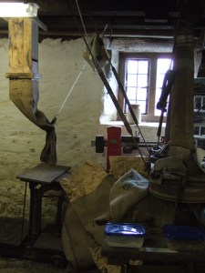 Machinery on the Meal Floor of the Mill.