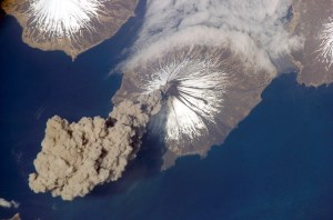 Mt Cleveland in Alaska. Photo by Jeffrey N. Williams from abaord the International Space Station. This was an APOD!