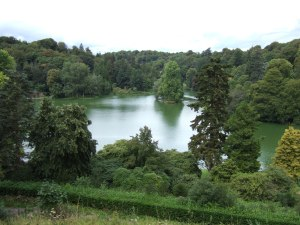 Stourhead. View of the lake from the Temple of Apollo. Taken by Inglenookery