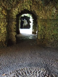 Looking back at **8 through the grotto. Love the pebble floor!