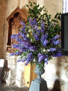 Flowers in the entrance to the Abbey.