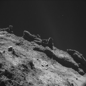 Jagged terrain on the comet. Not the landing spot!