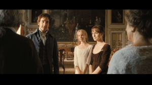 A scene from Pride and Prejudice filmed at Wilton House in the Double Cube Room.