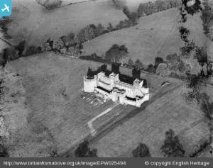 Not a real castle - an unlocated film set for a so-far unidentified film.