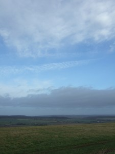 Beautiful skyscape, looking north from Cold Kitchen Hill towards Salisbury Plain.