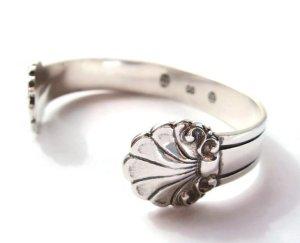 Vintage Carl M Cohr silver bangle bracelet.