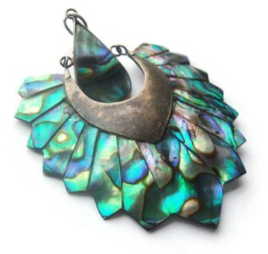 Abalone and sterling silver pendant.
