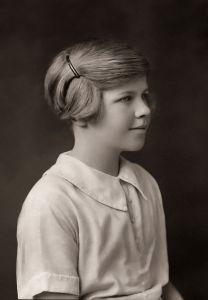 Venetia Burney, aged 11.