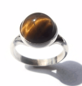 N E From tiger's eye ring. For sale in my Etsy shop: click on photo for details.
