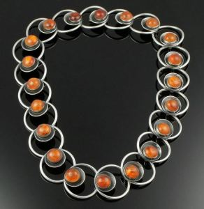 N E From amber necklace.