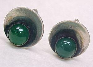 Chysoprase earrings.