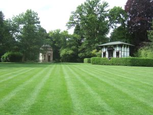 The Larmer Tree Gardens: the Temple on the left and the General's Room on the right.