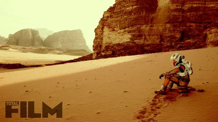 Matt Damon in Wadi Rum. The photo hasn't been 'Marsified' as you can see some small camel thorn seedlings.