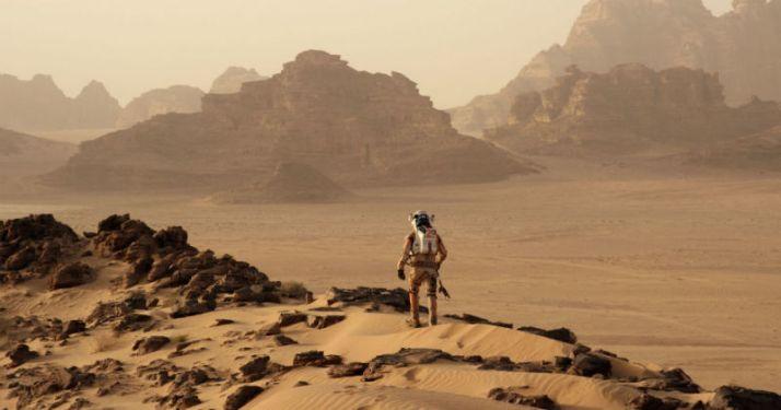 The Martian, filmed in Wadi Rum in Jordan.