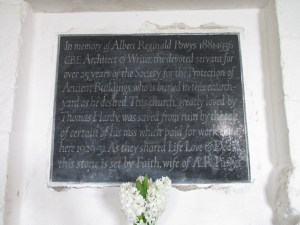 The plaque commemorating