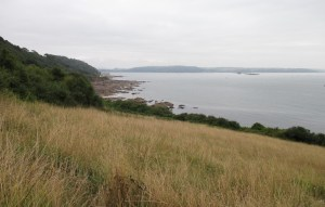 Looking back towards Plymouth. Fort Picklecombe is in the middle distance, now converted into apartments.