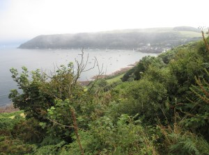 Looking back at Kingsand / Cawsand with the sea mist rolling in.