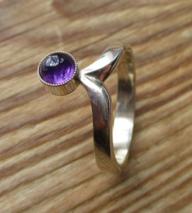Niels Erik From (NE From) amethyst and sterling silver ring.