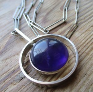 A stunning Niels Erik From amethyst and sterling silver necklace.