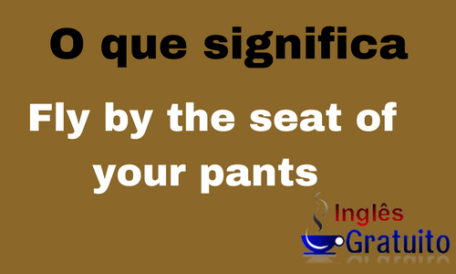 Expressão Fly by the seat of your pants