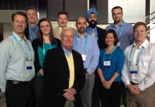 """From left front: Co-chairs Jon Davies and Dr. Neil MacIntyre (both of Duke University), and Amanda Dexter (IngMar Medical) with other faculty at recent CHEST course on """"Mechanical Ventilation: Advanced Critical Care Management"""""""