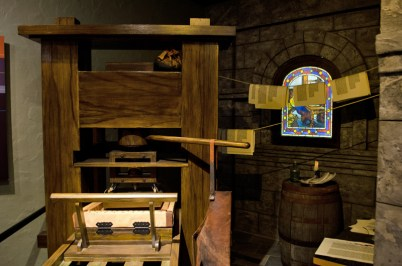 Gutenberg Press exhibit
