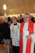 Pfarrer Dr. Clemens Hergenröder von der katholischen Schwesterpfarrei St. Josef und Pfarrer Josef Heigl von den katholischen Schwesterpfarreien St. Nikolaus Lenting und St. Oswald Hepberg.