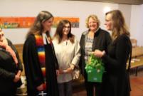 Auch der Kindergarten begrüßt Pfarrerin Anja Raidel.
