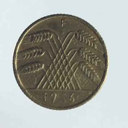 1936 - 10 Reichspfennig F 2
