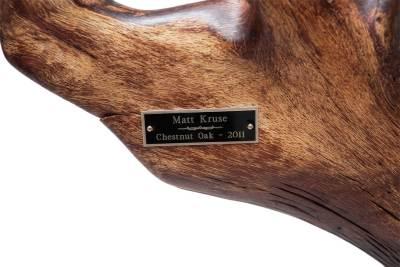Chestnut Oak Dining Table nameplate