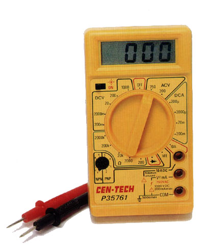 As you will notice, it is a tool that is very versatile and easy to use. Cen-Tech P35761 Digital Multimeter