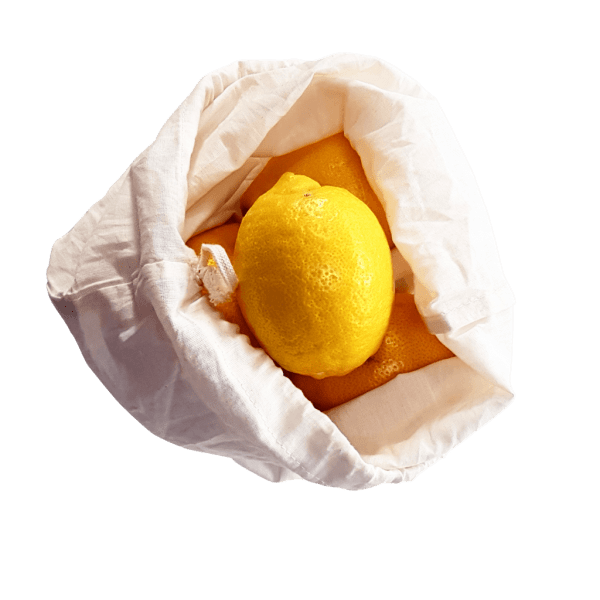 Reusable Cotton Bag With Lemon