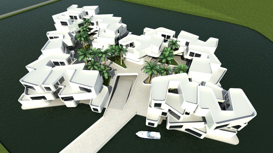 dutch, netherlands, waterstudio, new water, the citadel, floating apartment complex, floating residence