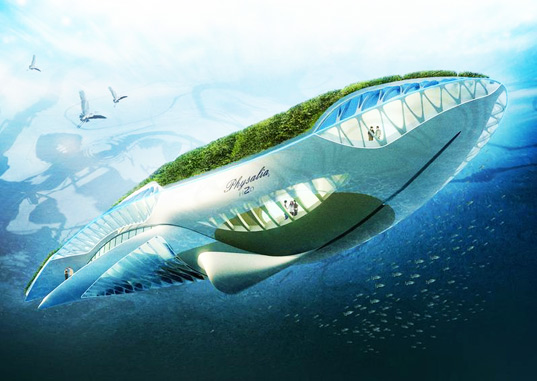 Whale Shaped Floating Garden Designed To Clean The Worlds