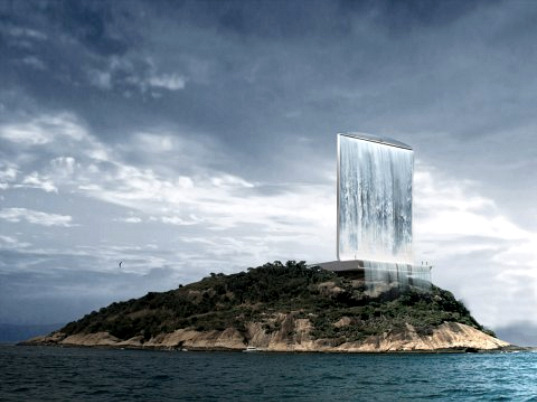 rio olympics, 2016 rio olympics, 2016 olympics, solar city tower, renewable energy, pv, solar energy, pumped water storate, waterfall, RAFAA, eco design, sustainable building, green design, self-sufficient architecture, eco skyscraper