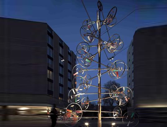 Bermondsey Square Bicycle Wheel Christmas Tree