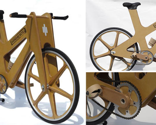 cardboard bicycle, cardboard bike, bike made from cardboard, eco-friendly bicycle, cardboard bike Phil Bridge, student design bicycle, Sheffeld England student design, cardboard bike, transportation tuesday, cbbike1.jpg