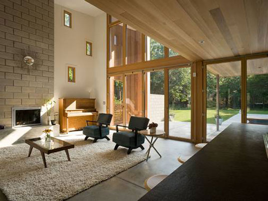 Berg Design, energy star, John Berg, kynar, low-e glass, mid-century modern, Old Stone Highway House, saline pool, sips, structural insulated panels, sustainable architecture, Highway5