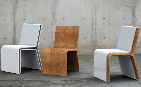 Your three sleek, modern Silla Guarda chairs hold twice as much seating as your first glance would indicate!