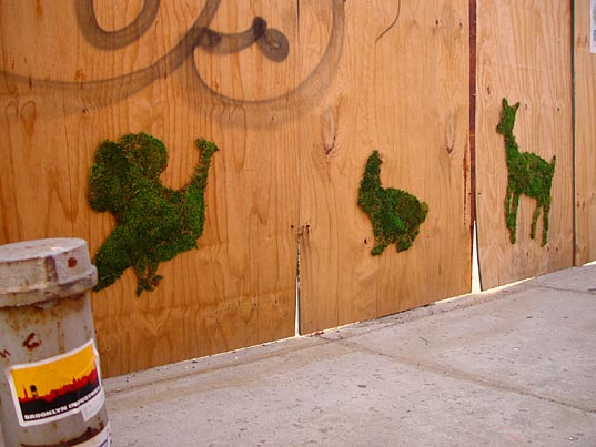 Green moss graffiti