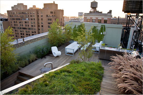 rooftop garden manhattan new york Manhattan Apartment Meets Garden Escape | Inhabitat